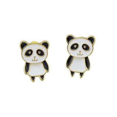 billige Moteøreringer-Dame Dråpeøreringer Panda Enkel Grunnleggende øredobber Smykker Hvit Til Daglig Stevnemøte