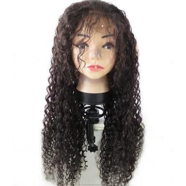 XCSUNNY לא מעובד שיער בתולי שיער אנושי חלק קדמי תחרה ללא דבק חזית תחרה פאה שיער ברזיאלי מתולתל Kinky Curly פאה עם שיער תינוקות 130% צפיפות שיער שיער טבעי בתולה100% לא מעובד בגדי ריקוד נשים / מסולסל