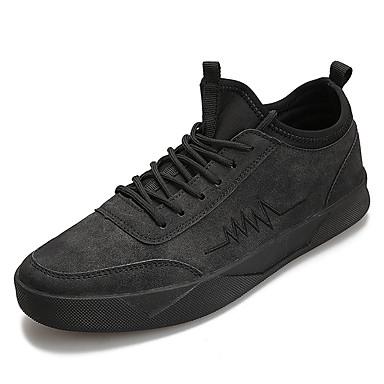 בגדי ריקוד גברים אור סוליות PU אביב / סתיו סוליות מוארות נעלי ספורט שחור / אפור / חום