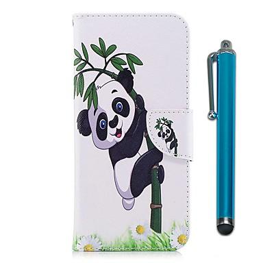 מגן עבור Huawei Honor 7X מחזיק כרטיסים ארנק עם מעמד נפתח-נסגר מגנטי כיסוי מלא פנדה קשיח עור PU ל Honor 7X Honor 6X