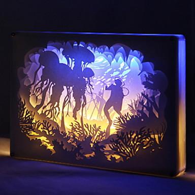 1pc LED לילה אור עם יציאת USB / קישוט / ליד המיטה LED