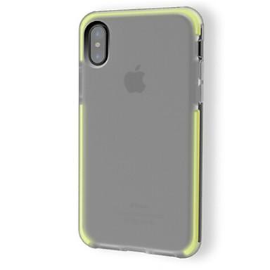 מגן עבור Apple iPhone X עמיד בזעזועים שקיפות צבע אחיד רך ל