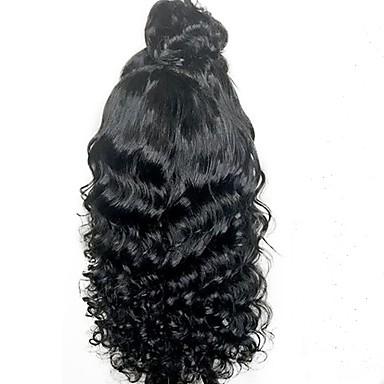 שיער אנושי חלק קדמי תחרה ללא דבק חזית תחרה פאה שיער ברזיאלי גלי Water Wave פאה עם שיער תינוקות 130% צפיפות שיער שיער טבעי בתולה100% לא מעובד בגדי ריקוד נשים ארוך חצי אורך פיאות תחרה משיער אנושי
