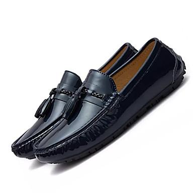 בגדי ריקוד גברים עור אביב / סתיו נוחות נעלי ספורט שחור / אדום / כחול