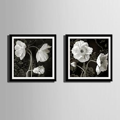Çerçeveli Tuval Çerçeve Seti - Botanik Çiçek / Botanik Plastik Çizim Duvar Sanatı