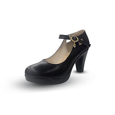 Mujer Zapatos Cuero de Napa Primavera / Otoño Confort / Pump Básico Tacones Tacón Cuadrado Blanco / Negro Offres Pour La Vente Emplacements De Magasin De Sortie fiprKN