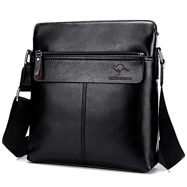 e70907ef57 Men s Bags PU(Polyurethane) Shoulder Bag Zipper Animal Black   Dark Brown    Khaki