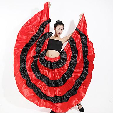 ריקודים סלוניים חלקים תחתונים בגדי ריקוד נשים הדרכה פוליאסטר סרט גומי דמוי גל נפול חצאיות