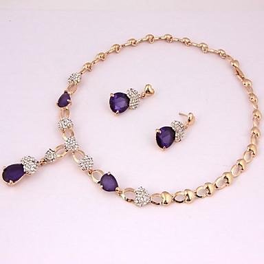 בגדי ריקוד נשים סט תכשיטים - אתני, אופנתי לִכלוֹל שרשרת סגול עבור חתונה יומי