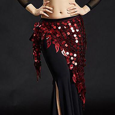 ריקוד בטן רגיל בגדי ריקוד נשים הדרכה פוליאסטר חגורה Paillette צעיף מותניים לריקודי בטן