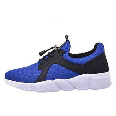 בגדי ריקוד גברים אור סוליות בד אביב / סתיו נעלי אתלטיקה שחור / אפור / כחול