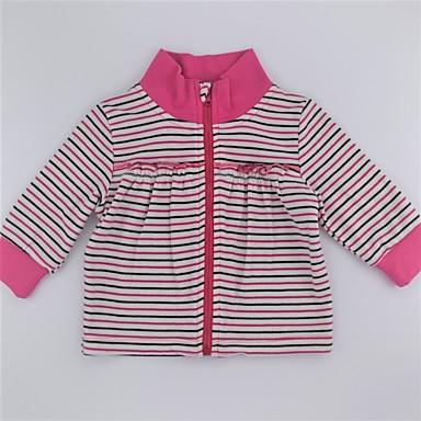 סוודר וקרדיגן כותנה שרוול ארוך דפוס פסים / קולור בלוק פעיל / בסיסי בנות תינוק / חמוד