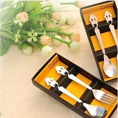 חתונה פלדת על חלד סטים של כלי שולחן חתונה / משפחה - 2 pcs