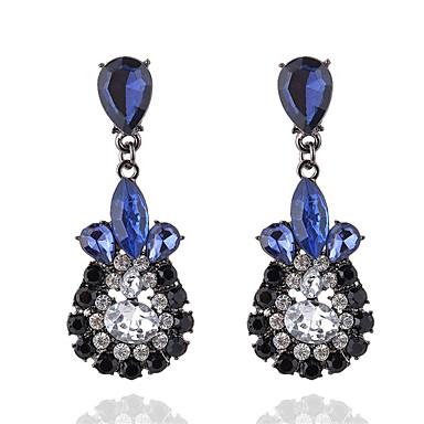 voordelige Oorbellen-Dames Kristal Druppel oorbellen Kristal Gesimuleerde diamant oorbellen Drop Dames Modieus Sieraden Blauw / Roze Voor Feest Ceremonie