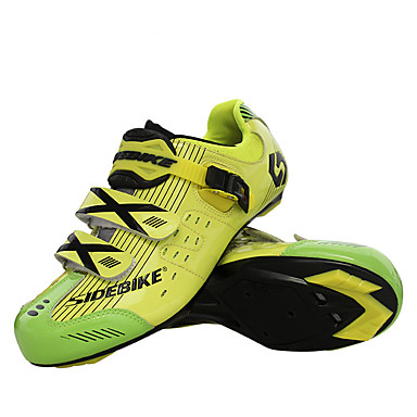 cheap Cycling Shoes-SIDEBIKE Road Bike Shoes Carbon Fiber Breathable Anti-Slip Ultra Light (UL) Cycling Yellow Red Blue Men's Cycling Shoes / Breathable Mesh / Hook&loop