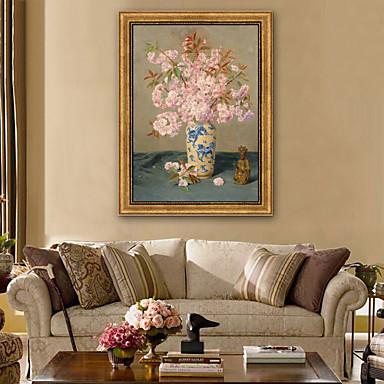 billige Innrammet kunst-Still Life Blomstret/Botanisk Tegning Veggkunst,Plastikk Materiale med ramme For Hjem Dekor Rammekunst Stue Innendørs