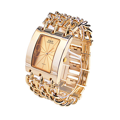 Men's Dress Watch / Fashion Watch Japanese Casual Watch Alloy Band Luxury Gold