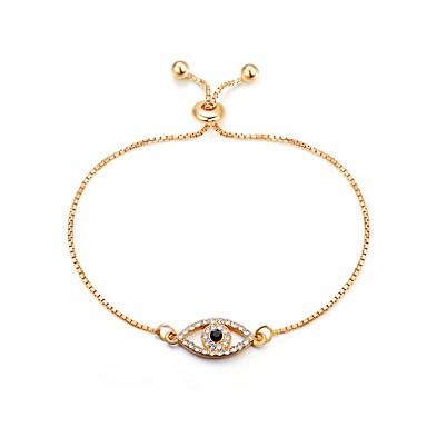 levne Módní náramky-Dámské Řetězové & Ploché Náramky Náramek Ďábelské oko dámy Klasické Módní Slitina Náramek šperky Zlatá Pro Denní Kancelář a kariéra
