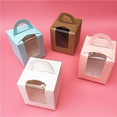 מרובע נייר כרטיסים מחזיק לטובת עם דוגמא \ הדפס קופסאות קישוט - 1pc