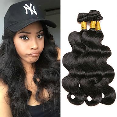 3 חבילות שיער ברזיאלי Body Wave שיער אנושי טווה שיער אדם שוזרת שיער אנושי תוספות שיער אדם