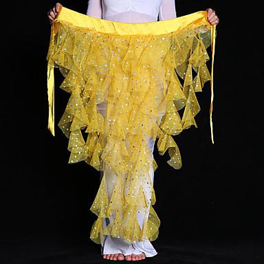 ריקוד בטן רגיל בגדי ריקוד נשים הדרכה טול MiniSpot חגורה צעיף מותניים לריקודי בטן