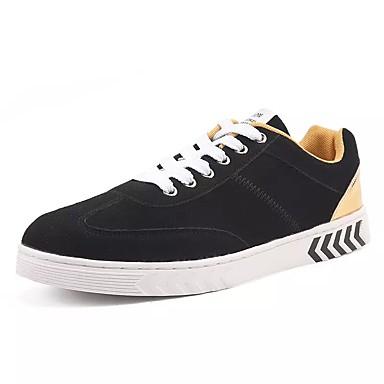 Homens sapatos Tule Primavera Outono Conforto Tênis Caminhada Combinação para Casual Preto e Dourado Preto e Vermelho Branco/Preto