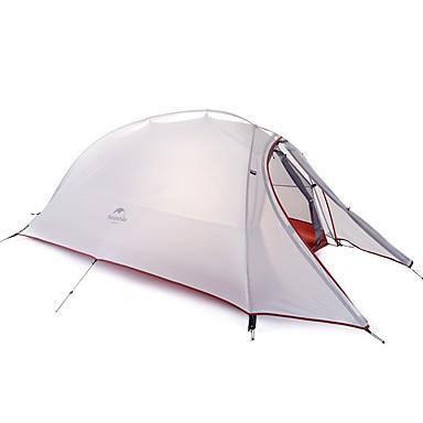 Naturehike 2 אנשים בָּחוּץ אוהלים לטיפוס הרים עמיד מוגן מגשם ייבוש מהיר עמוד חדר אחד שכבה כפולה >3000 mm קמפינג אוהל ל ג'ל סיליקה בד אוקספורד 210*125*100 cm
