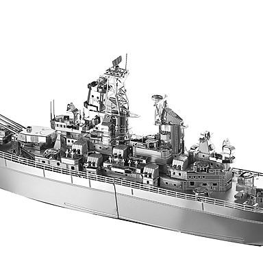 USS Missouri (BB-63) פאזלים3D / פאזלים מתכתיים Military / ספינת מלחמה / קרב מטאלי / פלדת על חלד 1 pcs סירה בגדי ריקוד ילדים / מבוגרים בנות