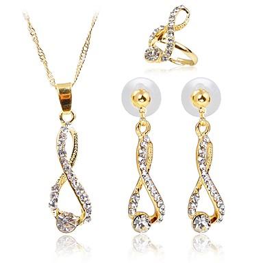 בגדי ריקוד נשים סט תכשיטים - פשוט, אופנתי לִכלוֹל סטי תכשיטי כלה זהב עבור חתונה / מתנה