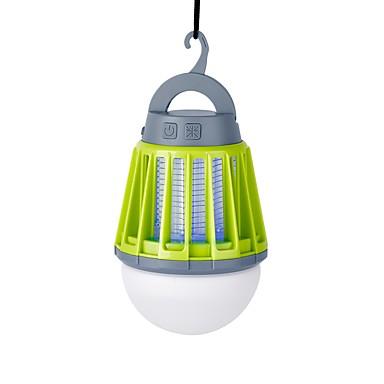 رخيصةأون المصابيح اليدوية وفوانيس الإضاءة للتخييم-Lanterns & Tent Lights LED LED بواعث 180 lm 3 إضاءة الوضع مع كابل USB ضد الماء محمول مقاومة الحشرة Camping / Hiking / Caving أخضر اللون لمصدر اللمبة برتقالي أخضر أسود مظلم