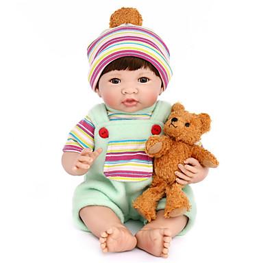 preiswerte Puppen-NPK DOLL Lebensechte Puppe Mädchen Puppe Baby Mädchen 14 Zoll Silikon Vinyl - Neugeborenes lebensecht Niedlich Handgefertigt Kindersicherung Non Toxic Kinder Unisex / Mädchen Spielzeuge Geschenk