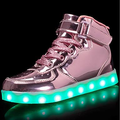 Dla chłopców / Dla dziewczynek Obuwie PU Wiosna Wygoda / Świecące buty Adidasy Spacery Sznurowane / Haczyk i pętelka / LED na Srebrny / Niebieski / Różowy