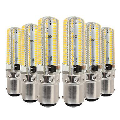 YWXLIGHT® 6pcs 7W 600-700lm BA15D נורות שני פינים לד 152 LED חרוזים SMD 3014 Spottivalo דקורטיבי לבן חם לבן קר 110-130V 220-240V