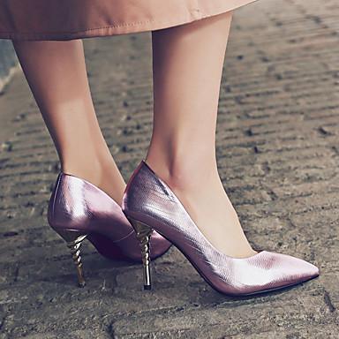 Or Violet Femme Chaussures synthétique Talons Chaussures Talon de Bout Aiguille pointu Basique microfibre Eté 06580052 à PU Printemps Escarpin BnaBqpx