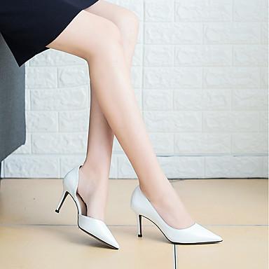 Noir Chaussures 06573536 Femme pointu Rouge PU microfibre Talons Aiguille Talon Confort Chaussures à synthétique Automne de Printemps Bout wFwZqA8
