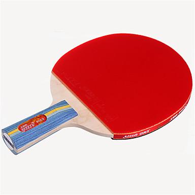 DHS® E306 Ping Pang/מחבטי טניס שולחן עץ גוּמִי 3 כוכבים ידית קצרה