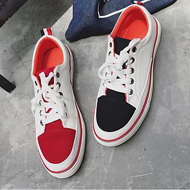 Męskie Komfortowe buty PU Wiosna / Jesień Adidasy Wielokolorowa Biały
