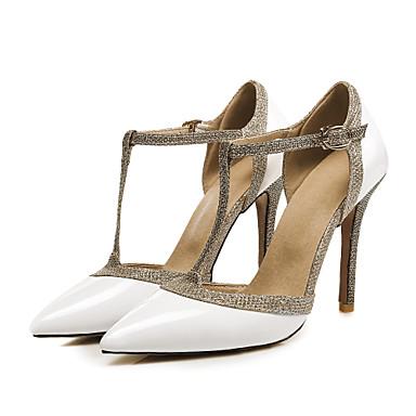 Cuir Chaussures Talon Escarpin à Eté Bout Chaussures Femme pointu Pièces 06574365 amp; Boucle Printemps Basique Verni D'Orsay Talons Aiguille Deux pw55Pxgq