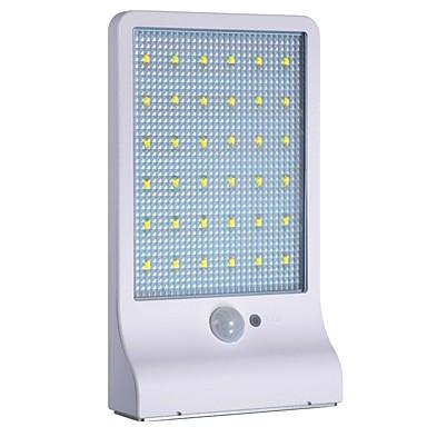1pc 1 W תאורת קירות חוץ / השמש אור השמש סולרי / בקרת אור / Motion איתור צג לבן 3.7 V תאורת חוץ / חָצֵר / גן 36 LED חרוזים