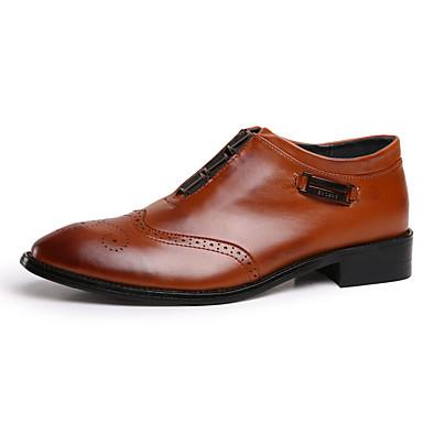 Herre sko PU Høst Vinter Komfort Støvler Svart Mørkebrun