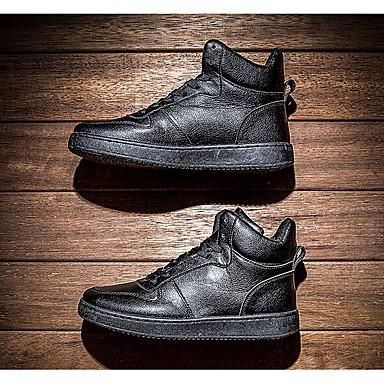 Muškarci Cipele PU Proljeće Jesen Udobne cipele Sneakers za Kauzalni Obala Crn