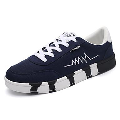 Unisex Schuhe PU Frühling Herbst Komfort Sneakers Schnürsenkel für Normal Weiß Schwarz Rot Grün