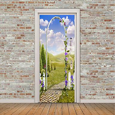 Naklejki na drzwi - Naklejki ścienne lotnicze / Naklejki ścienne 3D Krajobraz / Arabeska Salon / Sypialnia / Możliwość zmiany miejsca