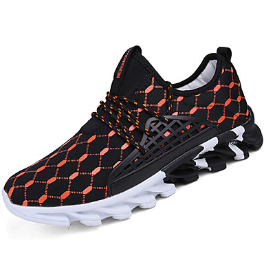 Men's Faux Leather Spring / Fall Comfort Athletic Walking Shoes Running Shoes / Walking Athletic Shoes White / Black / Orange / Black e1795c