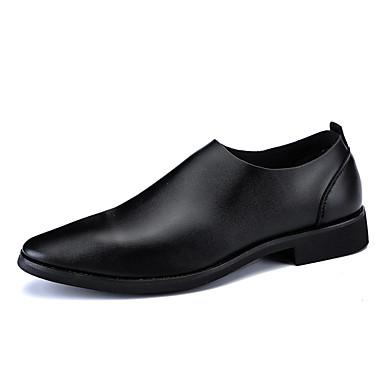 בגדי ריקוד גברים PU אביב / סתיו נוחות נעלי אוקספורד שחור