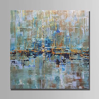 cheap Oversized Painting-Oil Painting Hand Painted - Abstract Modern Rolled Canvas