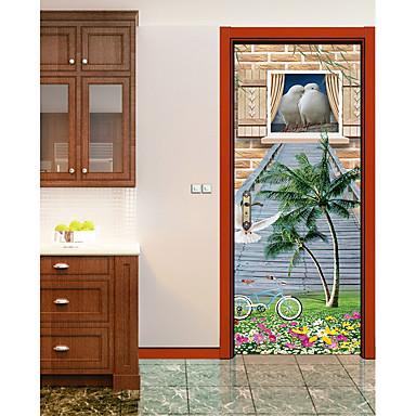 Animali floreale botanical adesivi murali adesivi 3d da parete adesivi murali animali adesivi - Adesivi decorativi per porte ...