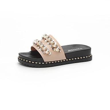Mujer Zapatos Cuero Primavera verano Confort Zapatillas y flip-flops Media plataforma Blanco / Negro Dernières Collections Vente En Ligne Véritable Ligne Pas Cher eLzWy0ipX