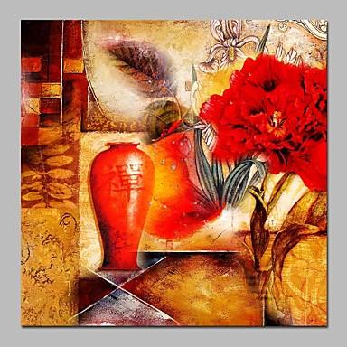 Hang-Malowane obraz olejny Ręcznie malowane - Religijne Zabytkowe Brezentowy / Rozciągnięte płótno