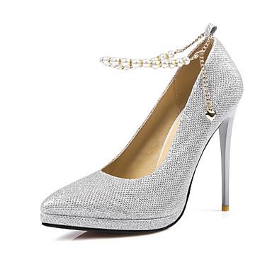 97e34c14cc Women's Sparkling Glitter / Paillette Spring / Summer Basic Pump Heels  Stiletto Heel Pointed Toe Black / Silver / Gray / 3-4 / Party & Evening